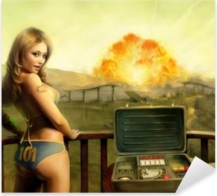Adesivo Pixerstick Fallout