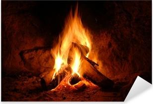 Adesivo Pixerstick Feuer, Kaminfeuer, Flammen,