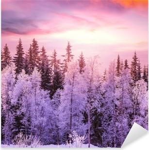 Adesivo Pixerstick Foresta di inverno
