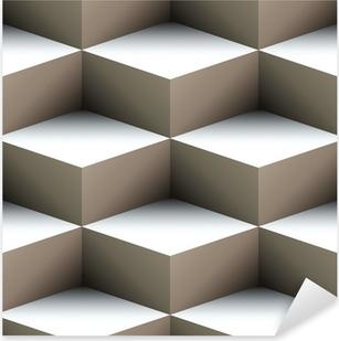Adesivo Pixerstick Geometrico senza soluzione di modello fatto di cubi sovrapposti
