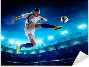 Adesivo Pixerstick Giocatore di calcio in azione
