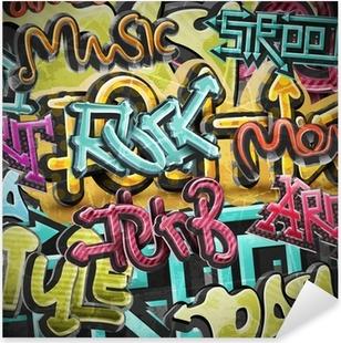 Adesivo Pixerstick Graffiti sfondo grunge