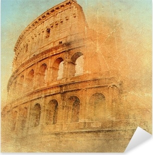 Adesivo Pixerstick Grande dell'antica Roma - Colosseo, opere d'arte in stile retrò