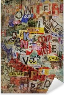 Adesivo Pixerstick Grunge Textured Background