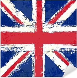Adesivo Pixerstick Grunge Union Jack