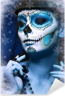 Adesivo Pixerstick Halloween compongono zucchero cranio