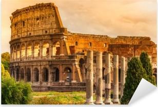 Adesivo Pixerstick Il Majestic Colosseo, Roma, Italia.