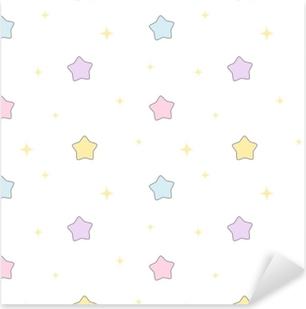 Adesivo Pixerstick Illustrazione senza cuciture del fondo del modello di vettore delle stelle variopinte sveglie del fumetto