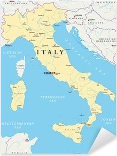 Adesivo Pixerstick Italia Mappa