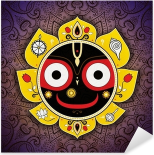 Adesivo Pixerstick Jagannath. Dio indiano dell'Universo. Signore Jagannatha.
