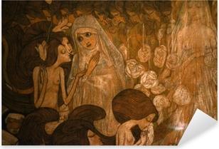 Adesivo Pixerstick Jan Toorop - Le tre spose II