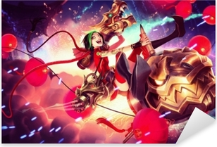 Adesivo Pixerstick Jinx - League of Legends