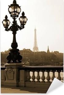 Adesivo Pixerstick Lampione sul ponte di Alexandre III a Parigi, Francia
