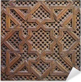 Adesivo Pixerstick Legno di Cedro marocchino Arabesque Carving