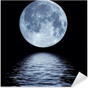 Adesivo Pixerstick Luna piena sopra l'acqua