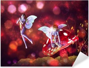 Adesivo Pixerstick Magic mushroom fairy