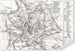 Adesivo Pixerstick Mappa di Roma Antica