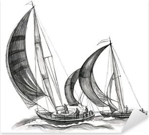 Adesivo Pixerstick Mare le barche