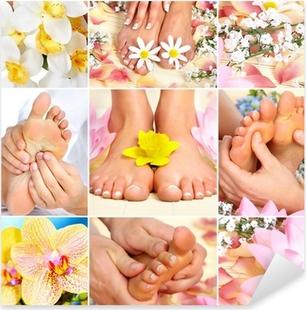 Adesivo Pixerstick Massaggio piedi