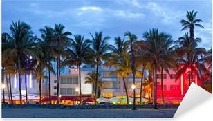 Adesivo Pixerstick Miami Florida Hotel e ristoranti a Sunset Beach,