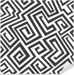 Adesivo Pixerstick Monocromatico labirinto seamless pattern