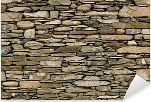 Adesivo Pixerstick Muro di pietra a secco