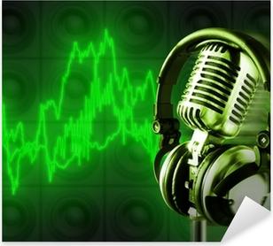 Adesivo DJ donna godendo la musica in cuffia • Pixers® - Viviamo per ... ed938ee898d2