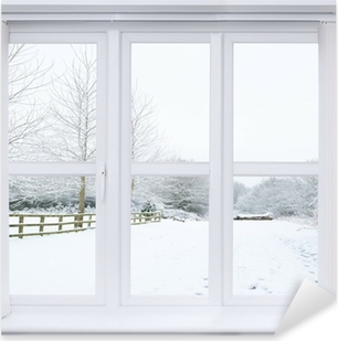 Adesivo Pixerstick Neve Window Scene