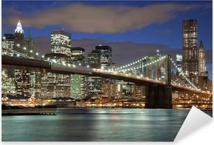 Adesivo Pixerstick New York City skyline-Ponte di Brooklyn