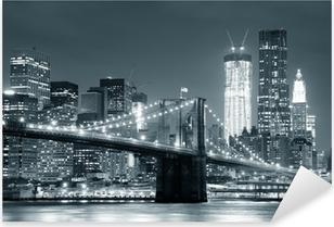 Adesivo Pixerstick New York Ponte di Brooklyn