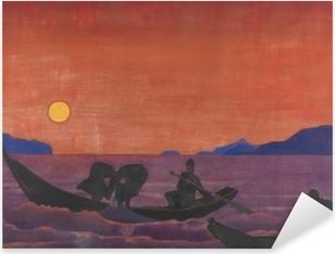 Adesivo Pixerstick Nikolaj Konstantinovič Roerich - E noi continuiamo a pescare
