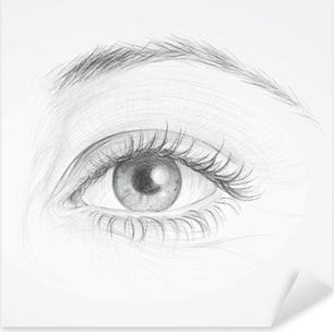 Carta Da Parati Occhi Disegno Realistico Di Occhio Bella Donna