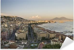 Adesivo Pixerstick Panorama di Napoli