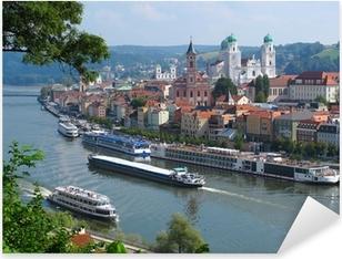 Adesivo Pixerstick Passau, città dei tre fiumi, Baviera, Germania.