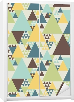 Adesivo per Guardaroba Abstract pattern geometrico # 2
