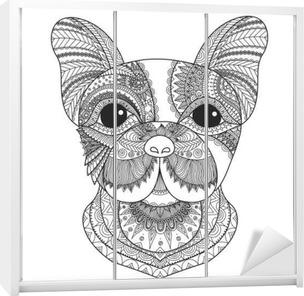 Carta Da Parati Cucciolo Bulldog Francese Zentangle Stilizzato Per