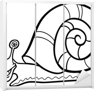 Quadro Su Tela Lumaca Fumetto Mollusco Per Libro Da Colorare