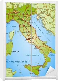 Cartina D Italia Autostradale.Mappa D Italia Con Autostrade
