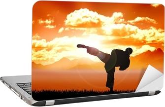 Adesivo per Laptop Archivio illustrazioni di formazione Karate