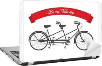 Cartolina Di San Valentino Con La Bicicletta Tandem Depoca