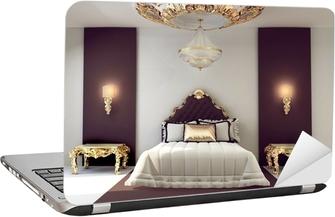 Letti Matrimoniali Di Lusso : Adesivo di lusso camera da letto matrimoniale con mobili doro in