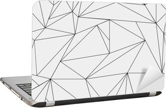 Adesivo per Laptop Geometrica semplice in bianco e nero modello minimalista, triangoli o vetrata. Può essere utilizzato come sfondo, sfondo o texture.