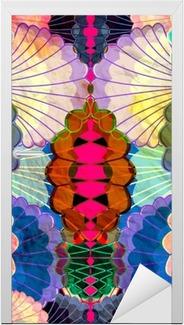 Adesivo per Porte Acquerello multicolore elementi astratti