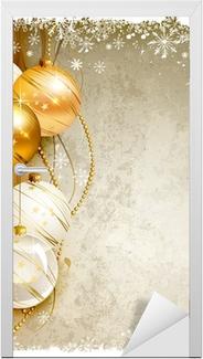 Sfondi Natalizi Eleganti.Quadro Su Tela Elegante Sfondo Natale Con Palline Da Sera Oro E
