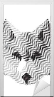Adesivo per Porte Lupo segno inciso illyustrat vettori animali