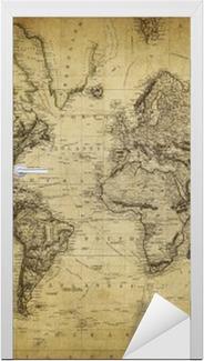Adesivo per Porte Mappa d'epoca del mondo 1814 ..