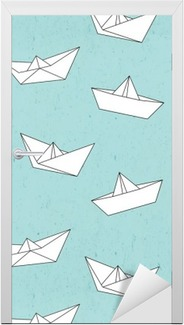 Adesivo per Porte Modello Barca di carta