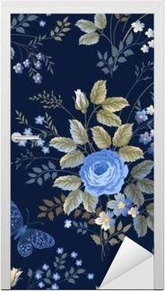 Carta Da Parati Modello Floreale Senza Saldatura Con Rose Blu Su