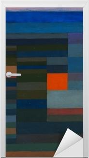 Adesivo per Porte Paul Klee - Fuoco la sera