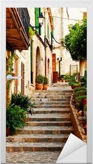 Adesivo per Porte Strada nel villaggio di Valldemossa a Maiorca